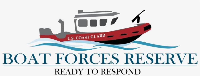 Boat Force Reserve Logo - Coast Guard Logo Boat, transparent png #445481