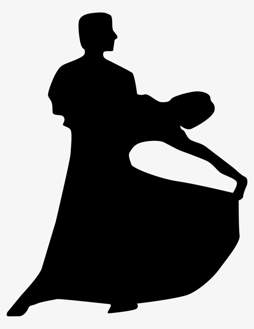 Couple Silhouette Of Flamenco Dance Comments - Couple Dancing Silhouette Outline, transparent png #445965
