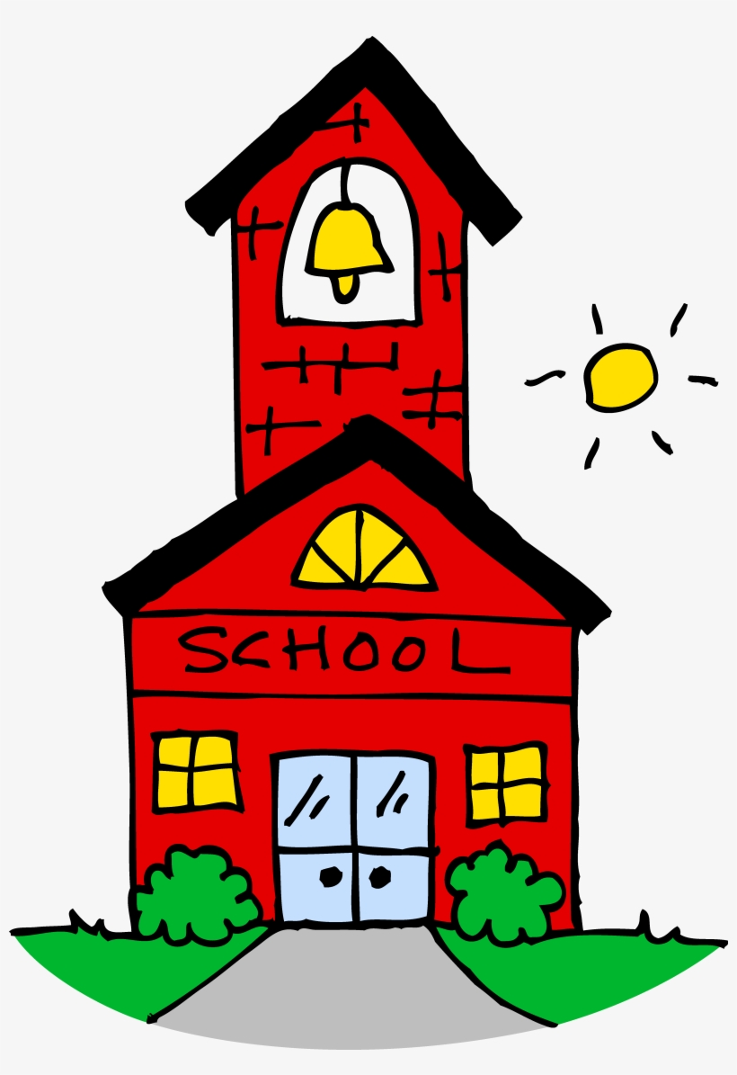 House - Red School House Clip Art, transparent png #445988