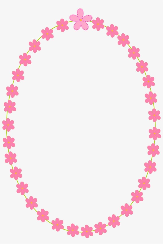 Free Digital Flower Frames Scrapbooking Paper And Stickers - Pink Oval Frame Png, transparent png #446705