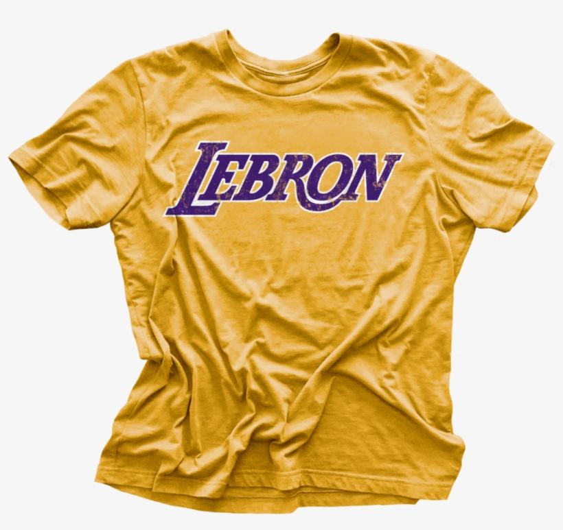 Lebron Los Angeles Logo Vintage T-shirt - T-shirt, transparent png #447060