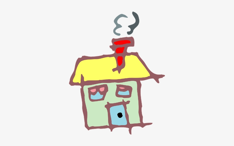 Before House Clipart - Drawn House Png, transparent png #447374