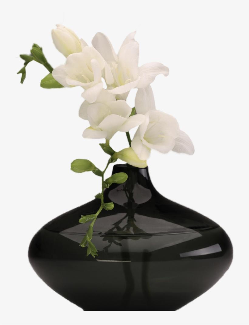 White Flower Vase Png, transparent png #447399