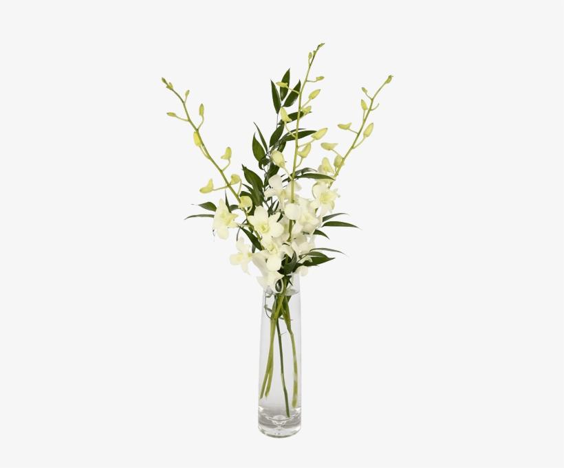 Elegant Orchids, White - Orchid Flower Bud Vase, transparent png #447630