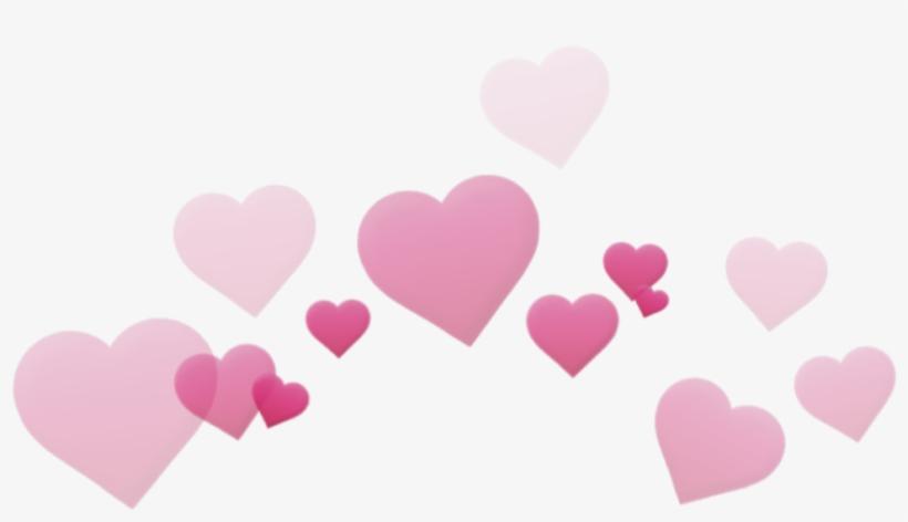 Heart Heartcrown Crown Cute Pink Tumblr Banner Transparent - Heart Crown Macbook Crown Filter, transparent png #448694