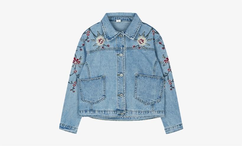 189ea21a4b5e1 Itgirl Shop Roses Cute Embroidery Denim Jacket Aesthetic - Clothing ...
