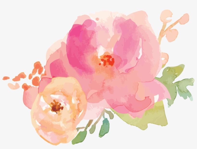 Border Flowers Watercolor Painting Flower Border Pastel Png Free