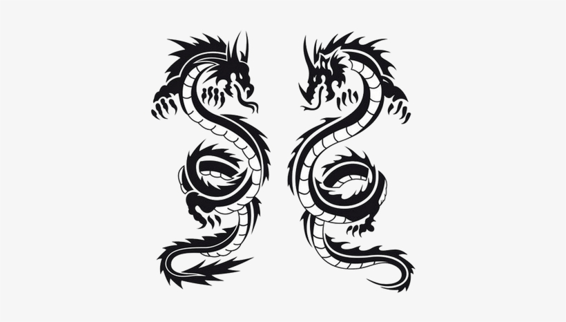 65c360941 Black And White Dragon Tattoo - Free Transparent PNG Download - PNGkey