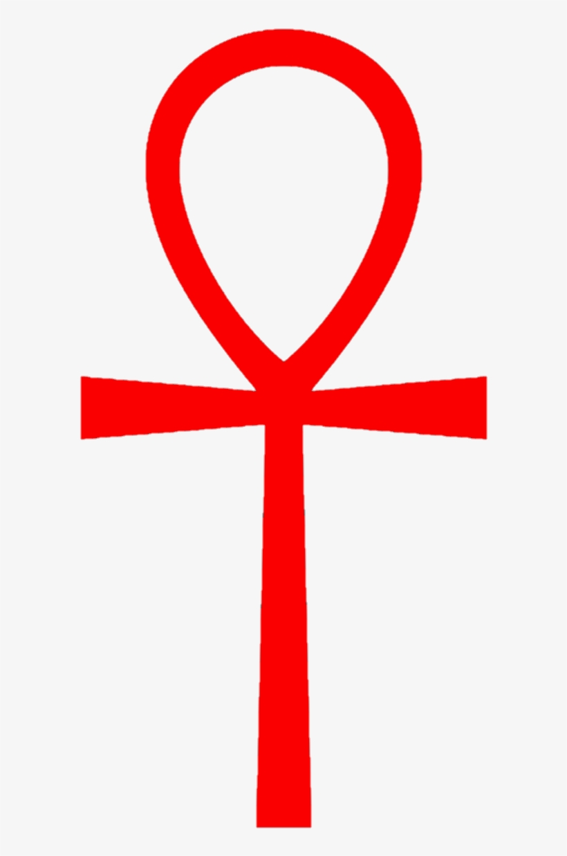 Ankh 01 (red) - Cross With A Circle Around - Free ...