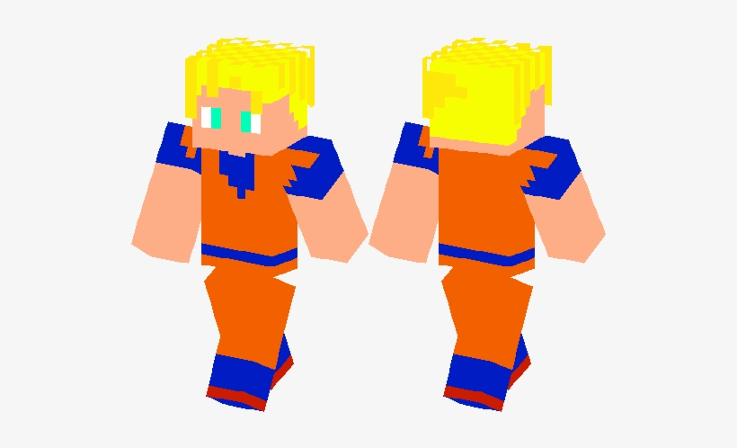 Dbz Super Saiyan Goku - Dragon Ball Z Minecraft, transparent png #4402450