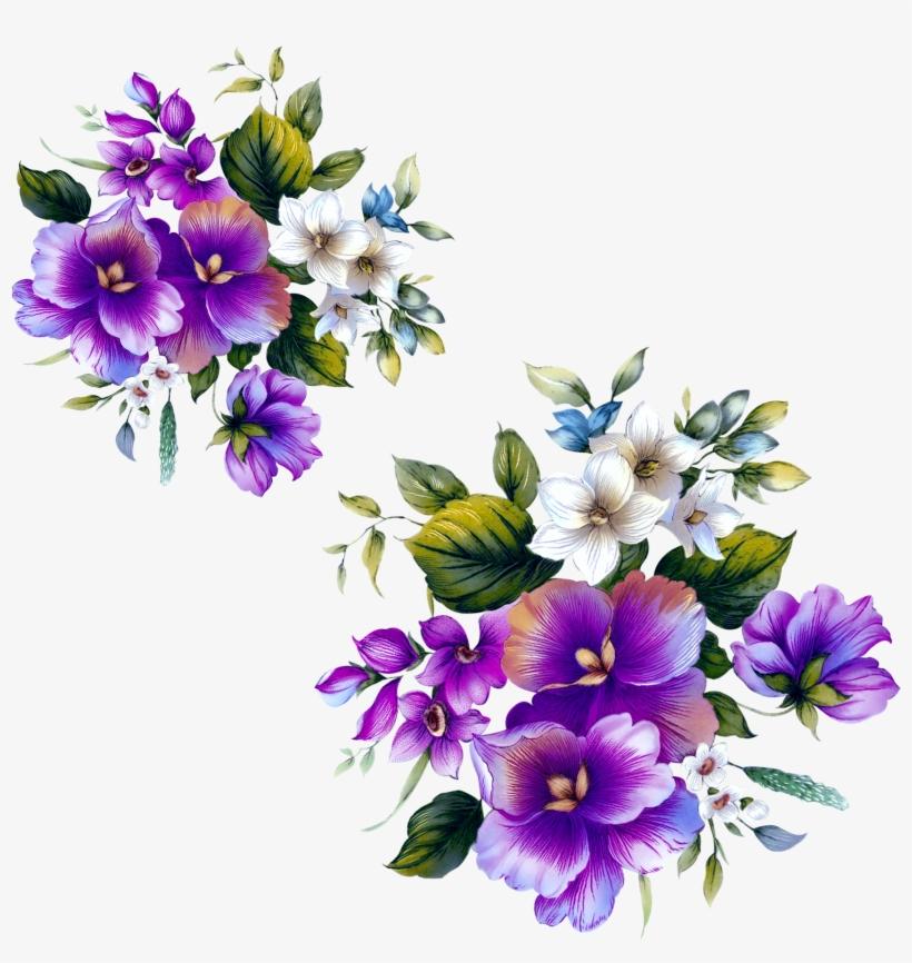 Floral Design Flower Purple - Png Flower Pattern Purple