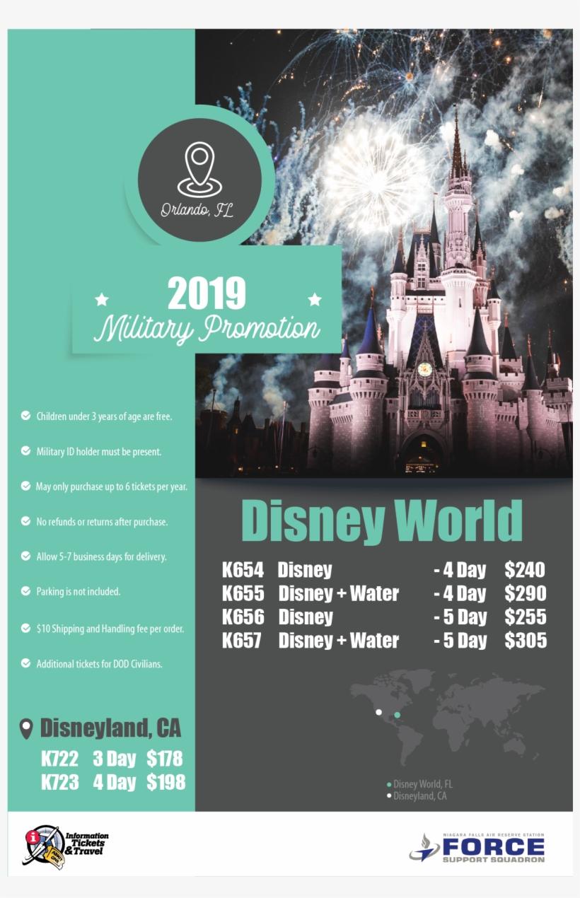 2019 Disney Prices Have Been Released - Disney World, Cinderella Castle, transparent png #4402730