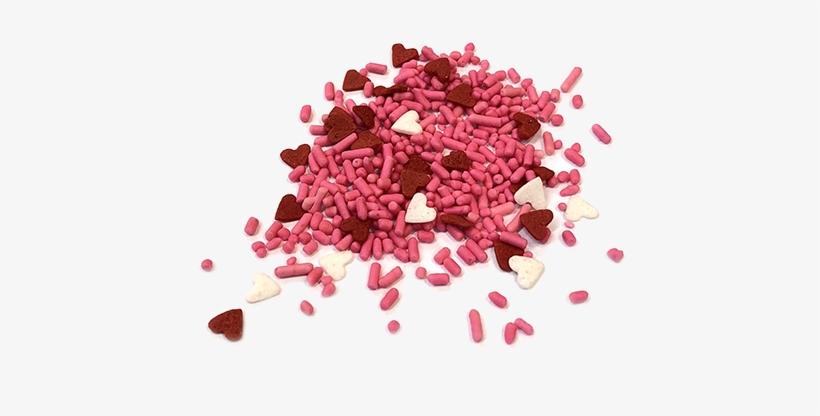 Sprinkle King Pink Jimmies & Mini Heart Mix Candy Sprinkles - Sprinkle King Png, transparent png #4405136