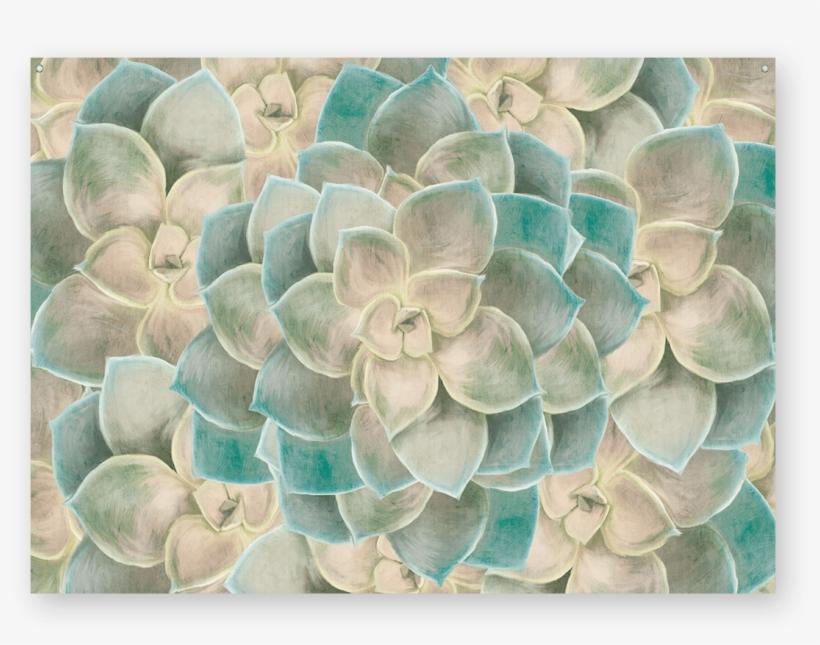 Succulent Fractals Wall Tapestry - Floral Design, transparent png #4414021