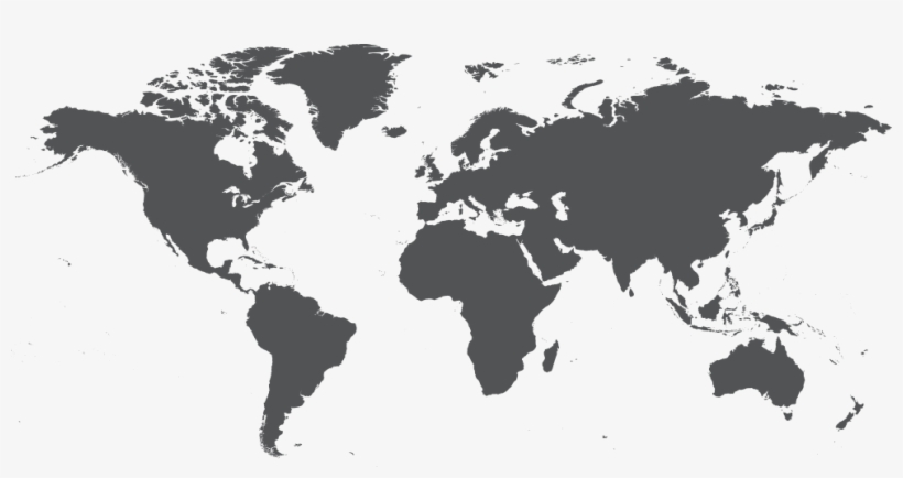 Map Of The World Png Hd - World Map Dark Grey - Free ...