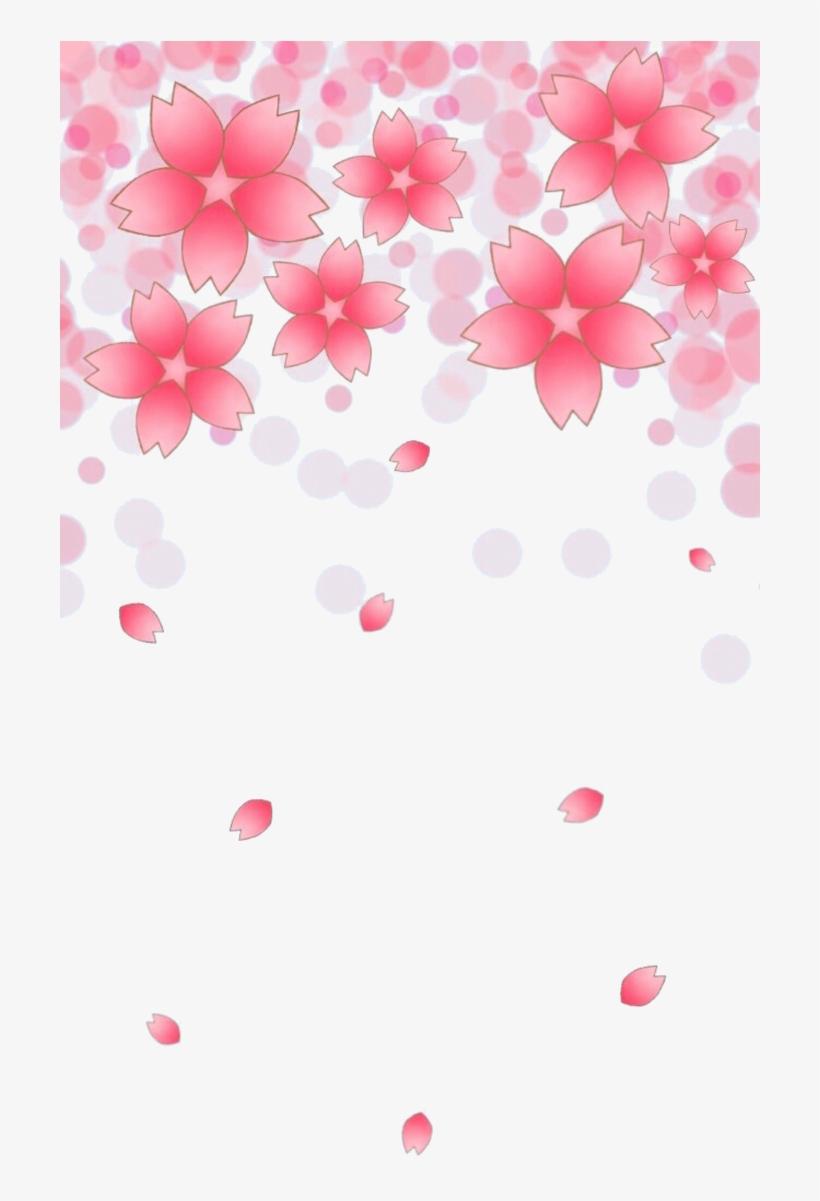 Cherry Blossom Petals Falling Png, transparent png #4416688