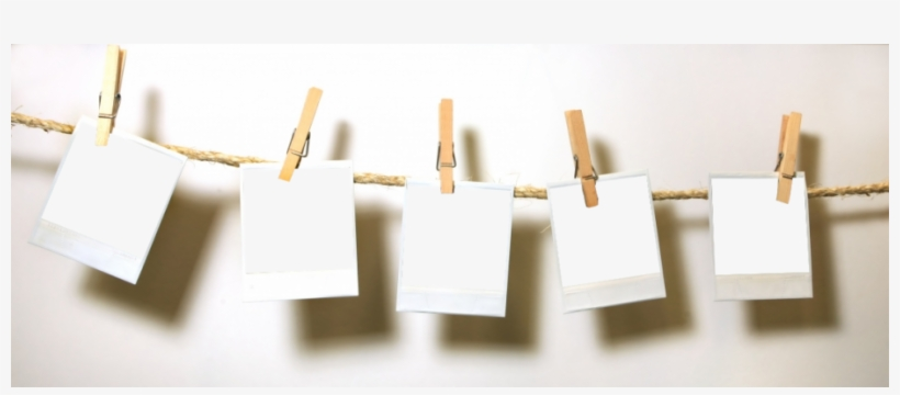 Clothespin Header Photo By April Emery - Vintage Polaroid Template, transparent png #4418115