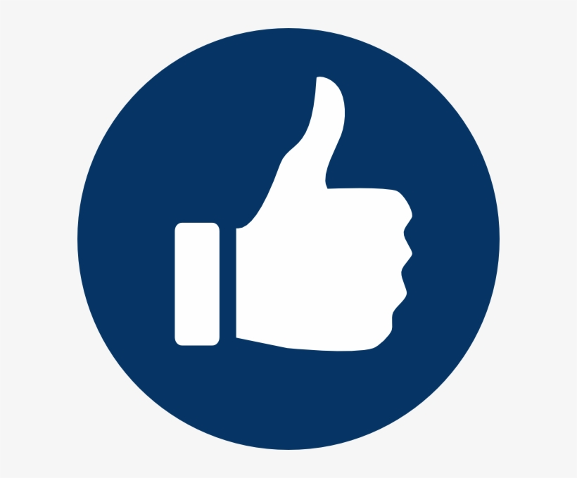 Thumbs Up Facebook Png Www Imgkid Com The Image Kid - Blue Thumb Up Icon Png, transparent png #4418830