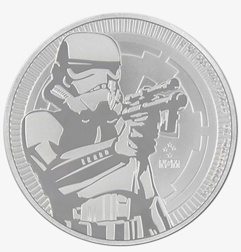 2018 Niue Star Wars Stormtrooper 1oz Silver Coin - Star Wars Silver, transparent png #4420060