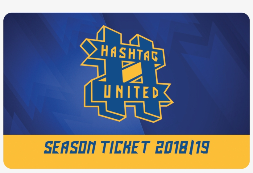 Image Of 2018/19 Season Ticket - Hashtag Utd Logo, transparent png #4421210