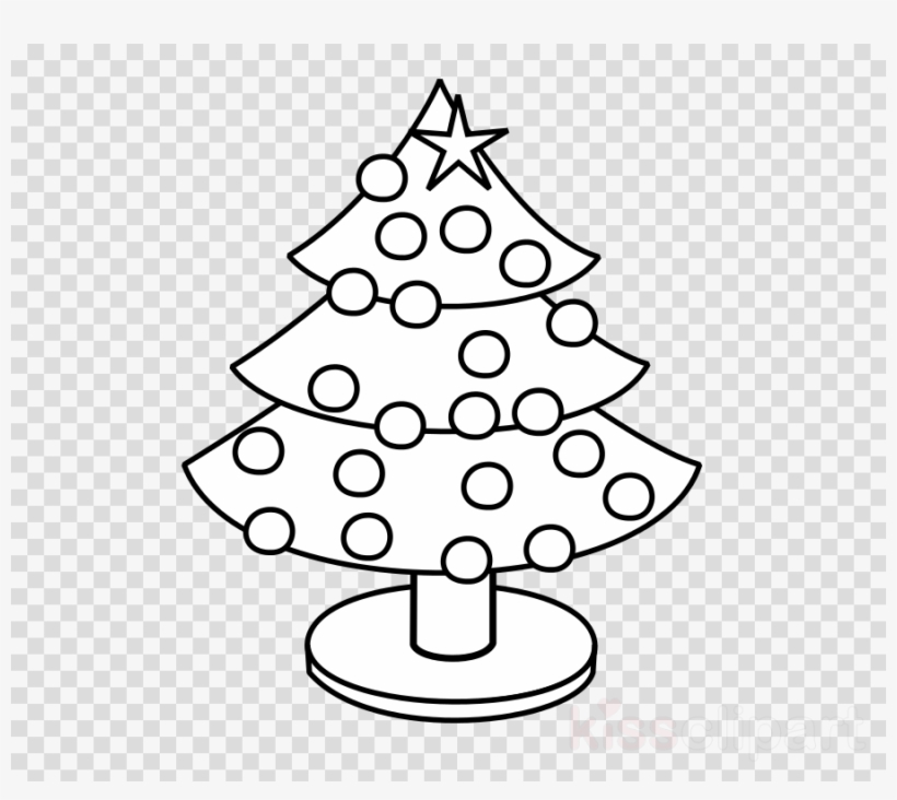 Christmas Tree Coloring Clipart Coloring Book Christmas - Little Christmas Tree Color, transparent png #4422548