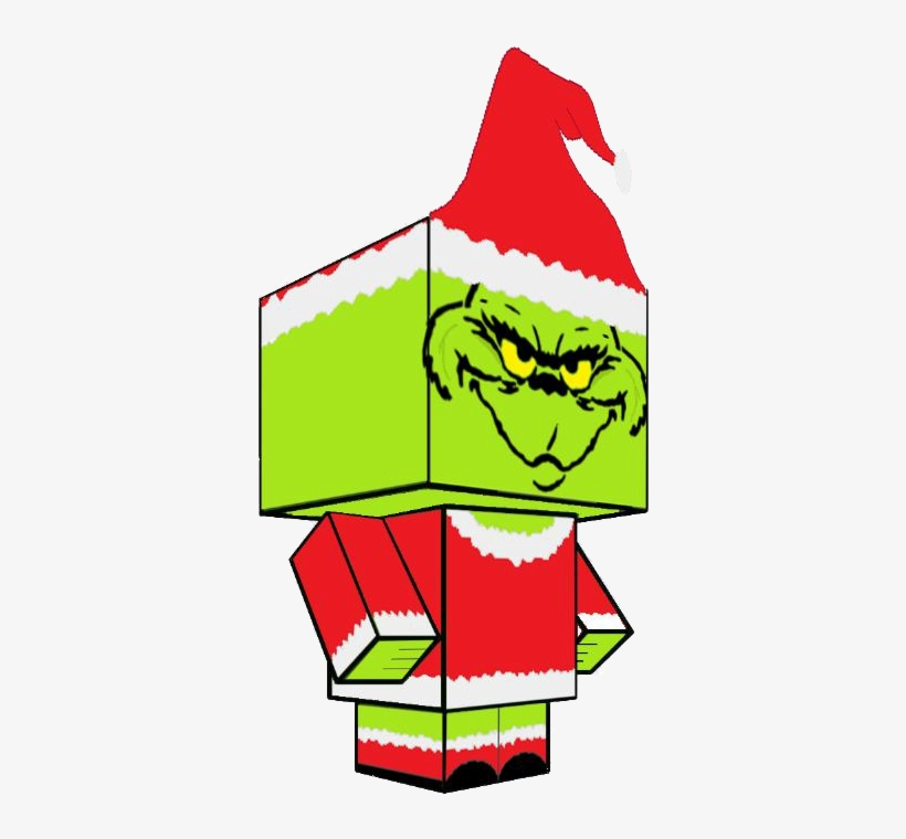 Christmas Grinch Face Clip Art - Grinch Black And White, transparent png #4423444