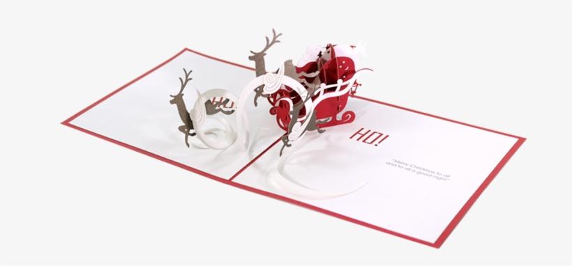 Santa Sleigh - Santa Claus, transparent png #4423445