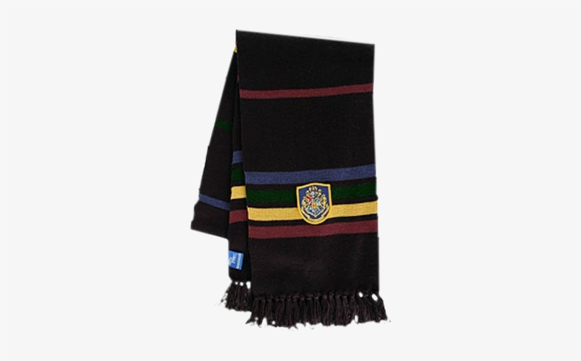 Hogwarts Black Scarf - Harry Potter Deluxe Black Hogwarts Scarf, transparent png #4423784
