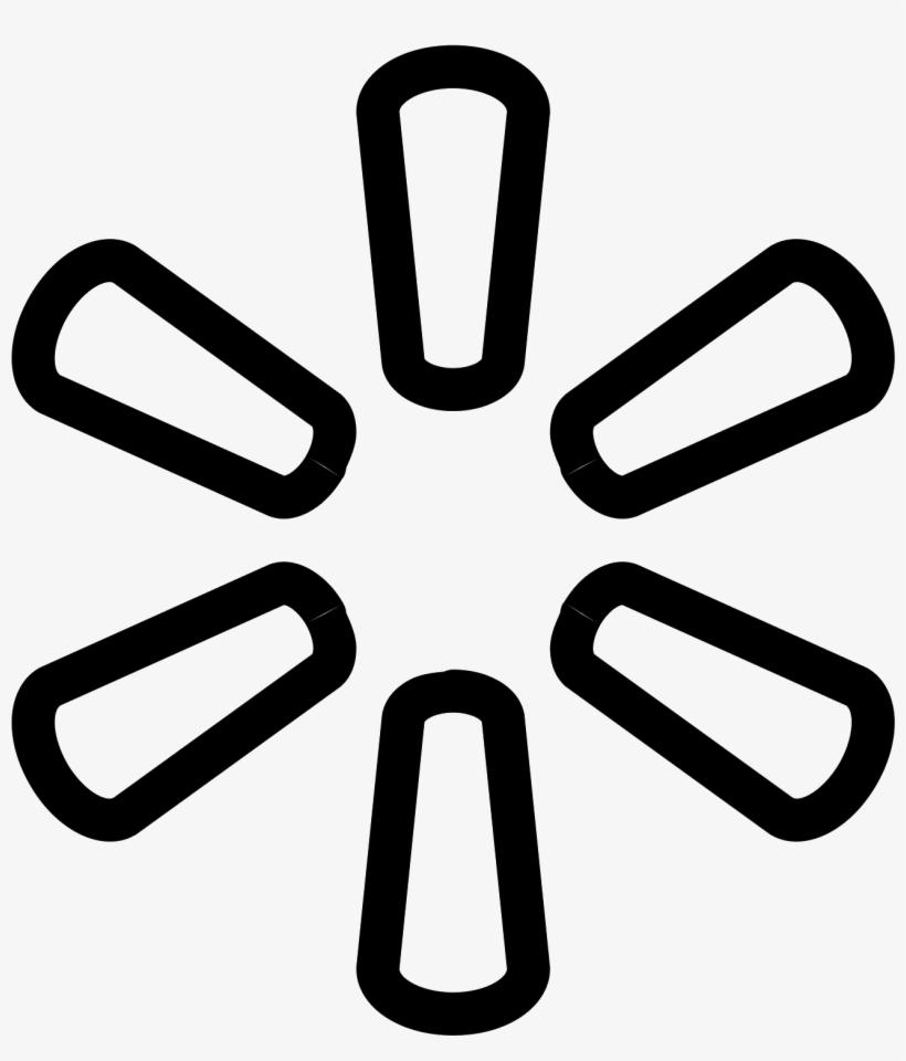 walmart icon walmart logo black and white free