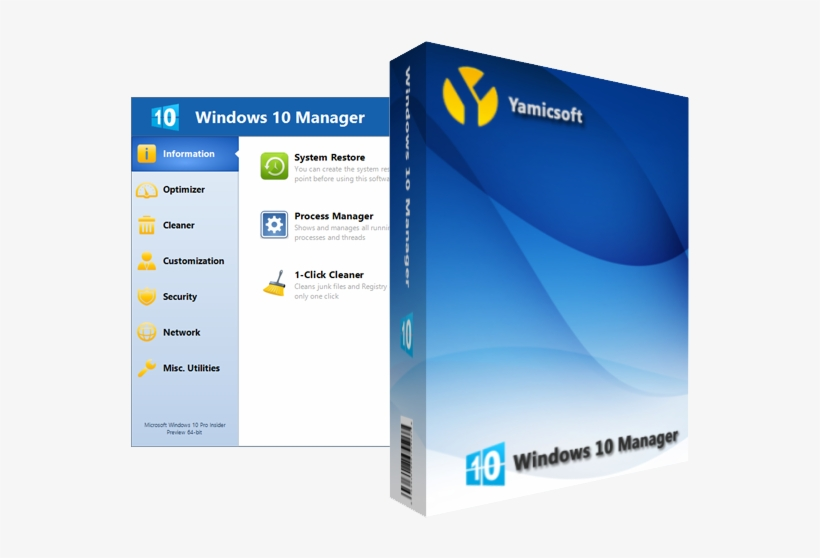 Windows 10 Manager - Yamicsoft Windows 10 Manager 2.3 1 Keygen, transparent png #4428872