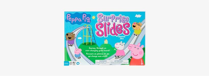 Peppa Pig Surprise Slides Board Game Ages 3 - Peppa Pig Game, transparent png #4430202