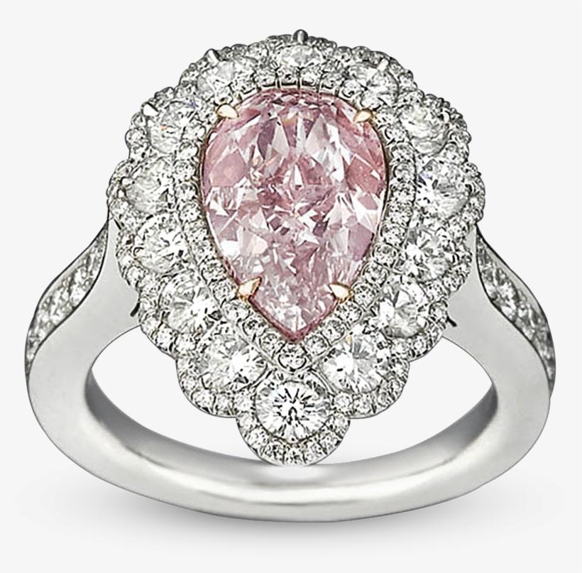 Fancy Pink Diamond Ring, - 2.58 Carat Fancy Pink Diamond Ring, transparent png #4436574