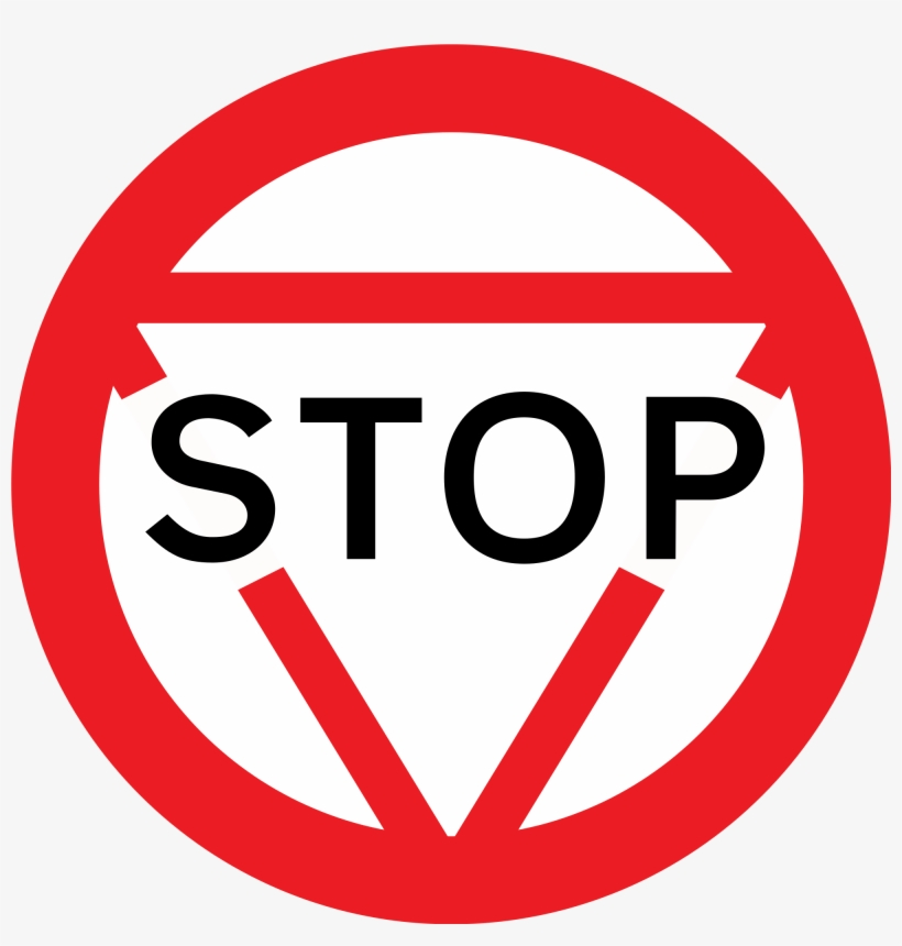 Collection Of Stop Sign Image - Stop Road Sign Uk, transparent png #4439465