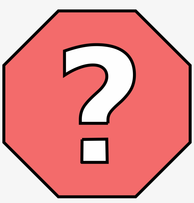 Stop Sign Template 18, Buy Clip Art - Stop Sign With Question Mark, transparent png #4439467