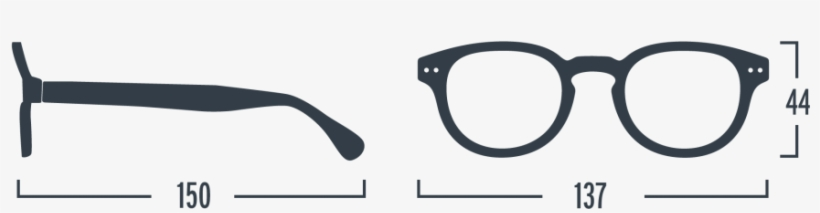 Neushop Izipizi Reading Glasses C Size - See Concept Let Me See Square Readers, Red, transparent png #4440575