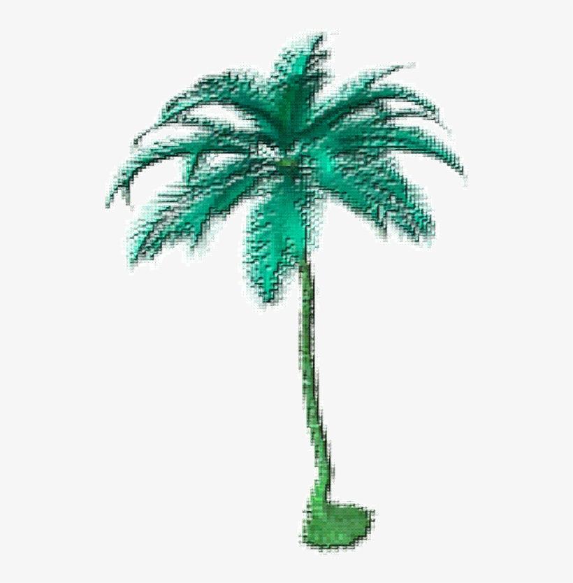 Wowlovelymystuffx Tropical Transparent Sticker Png - Palm Tree Pixel Gif, transparent png #4441782