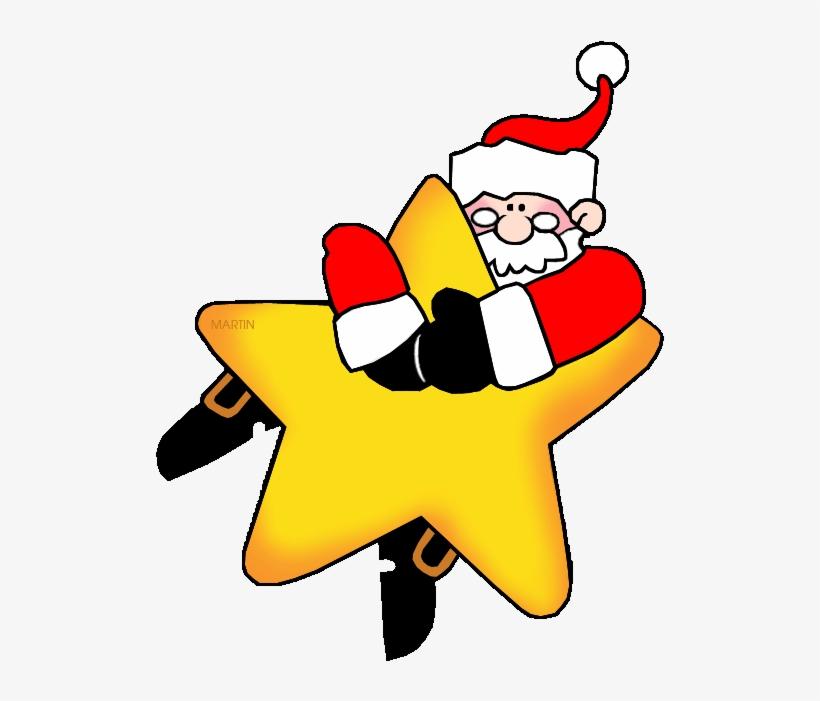 Christmas Star Clip Art Clipart Santa Claus Christmas - Christmas Star Clip Art, transparent png #4442804