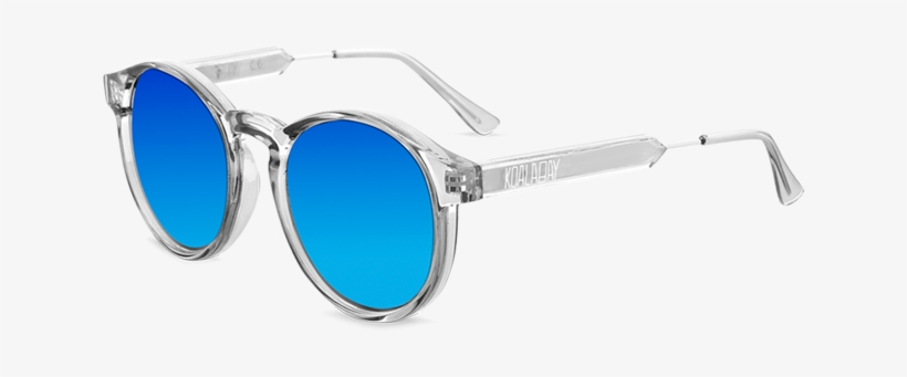 Clear Clearwater Sunglasses Blue Mirror Lenses - Aviator Sunglass, transparent png #4442809
