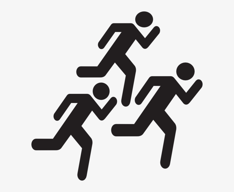 Running Stick Figure - People Running Icon Png, transparent png #4443082
