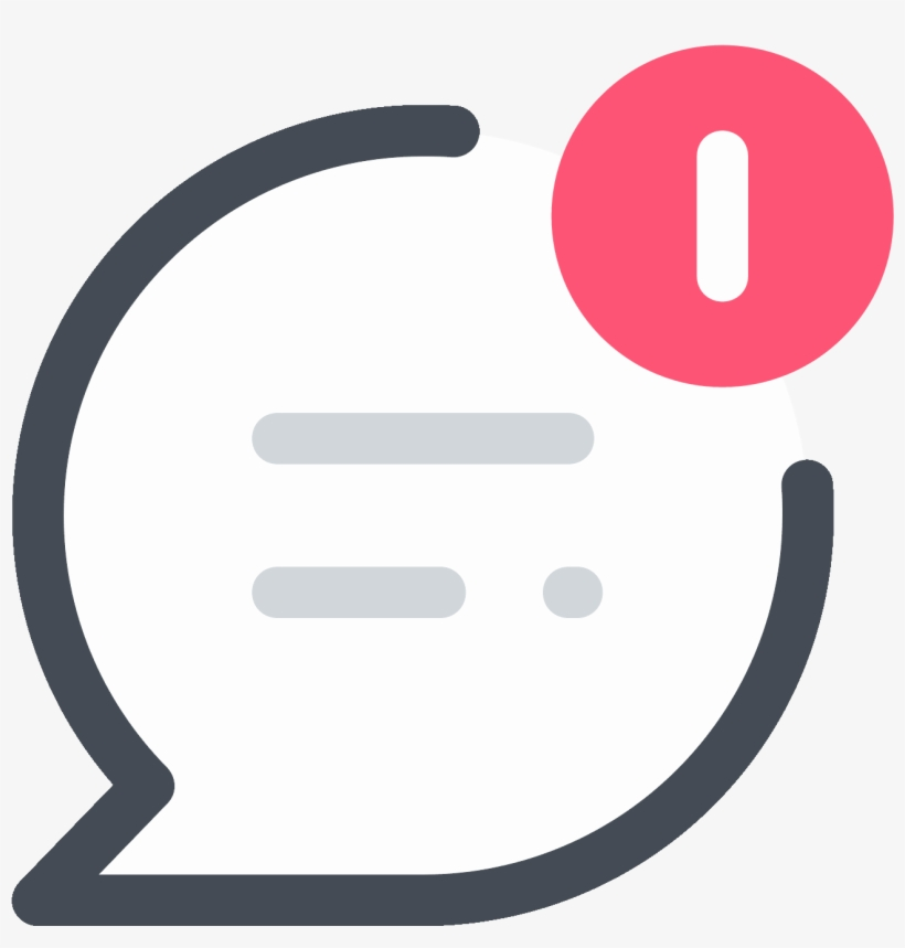 Topic Push Notification Icon - Icone Notification, transparent png #4444265