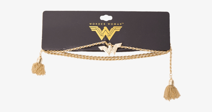 Defend The Earth With This Wonder Woman Lasso Necklace - Wonder Woman Movie Sword And Shield Hair Clip Set Gold, transparent png #4455415