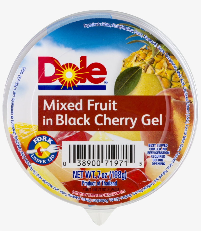 Dole Mixed Fruit In Black Cherry Gel, 7 Oz - Dole Pineapple Chunks In Heavy Syrup - 108 Oz Can, transparent png #4456560