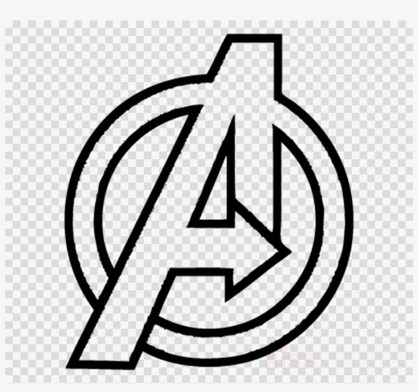 download avengers infinity war logo drawing clipart avengers logo white png free transparent png download pngkey download avengers infinity war logo