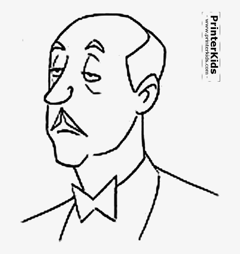 Person Outline Coloring Page Alfred Coloring Pages Free