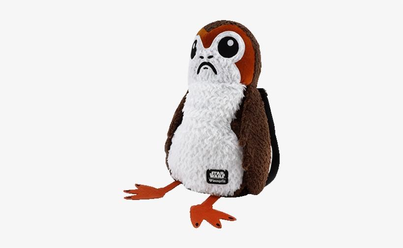 Porg Full Body Loungefly Plush Backpack - Star Wars Episode Viii Cookie Jar With Sound Porg, transparent png #4474243