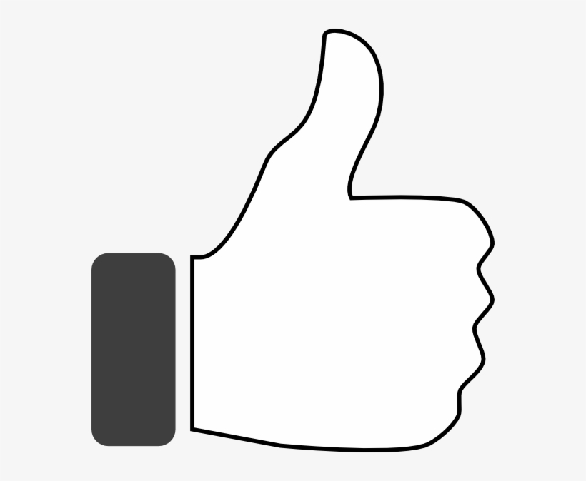 Up Vector Black And White Thumbs Up Clipart White Free