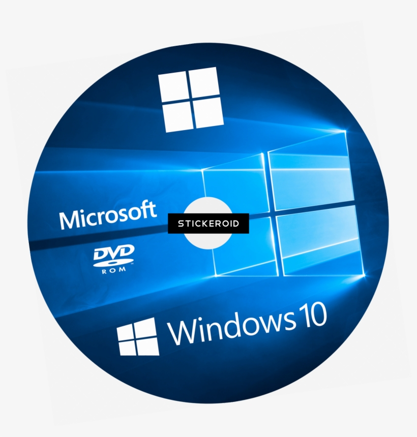 Windows Cd Cover - Windows 10 64 Bits, transparent png #4485002