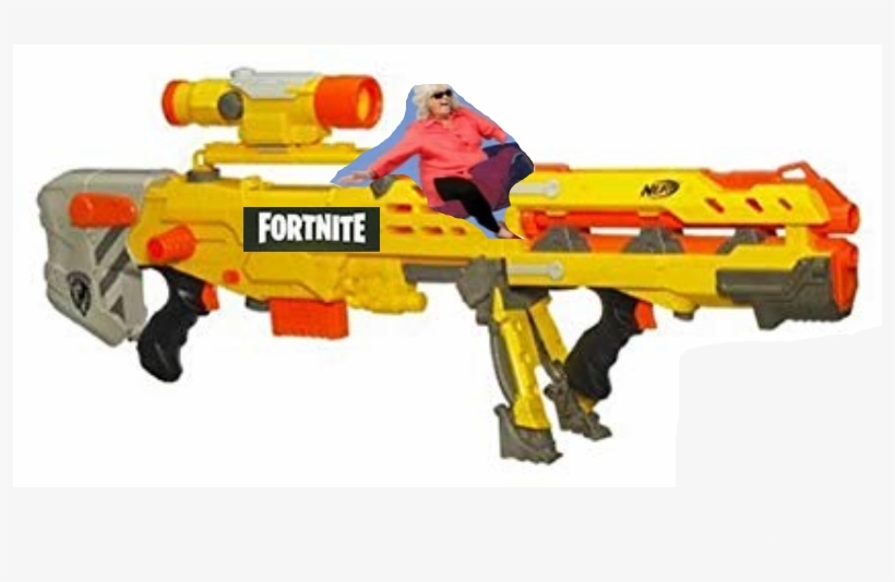 Fortnite Scar Png - Nerf N-strike Elite Longshot Cs-6 Blue, transparent png #4485236