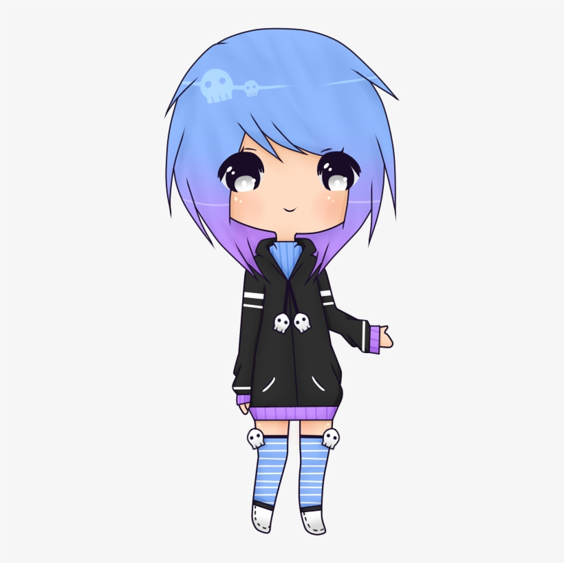 Drawings Pastel Goth Friend Anime Png Drawings Pastel - Pastel Goth Minecraft Skin Girl, transparent png #450068