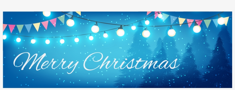 Christmas Banner - Christmas Banner Blue Png, transparent png #450419